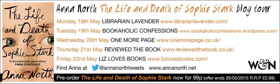 Blog Tour Banner - The Life and Death of Sophie Stark