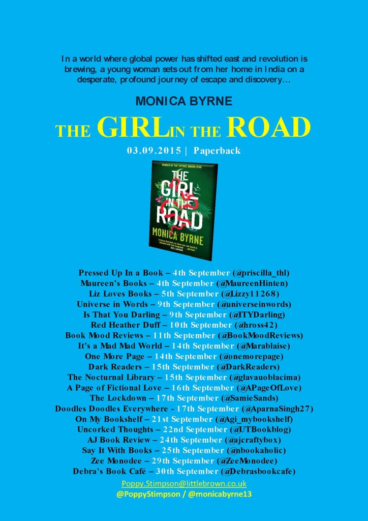 THE GIRL IN THE ROAD BLOG TOUR