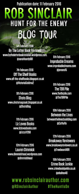 Hunt for the Enemy blog tour banner