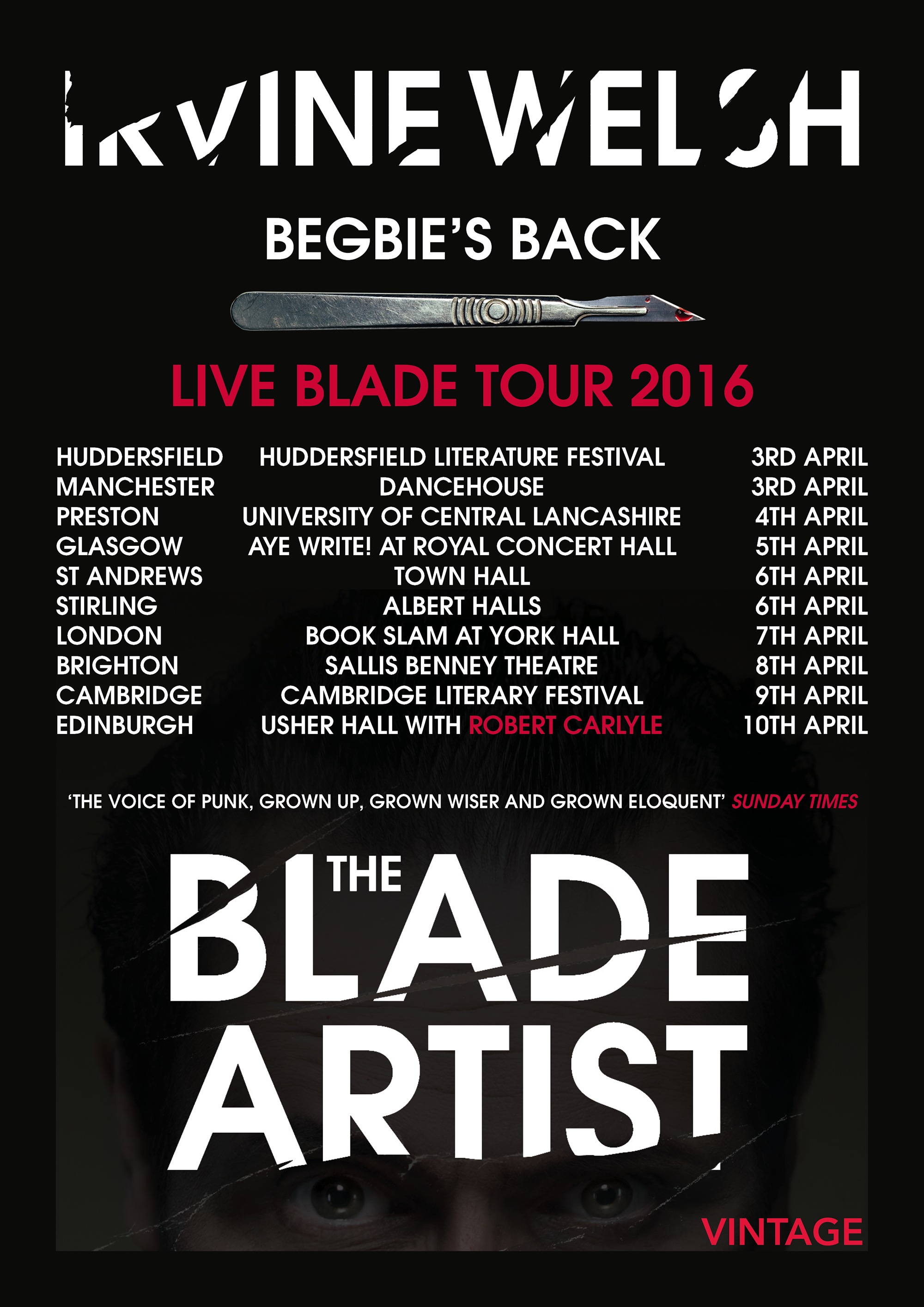 Blade Artist tour poster