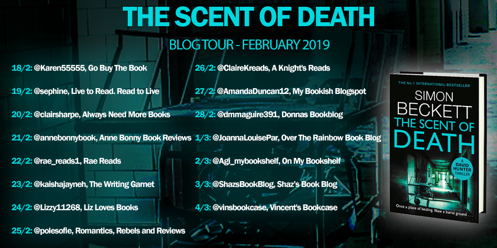 The Scent Of Death Simon Beckett  Blog tour review  – Liz Loves Books